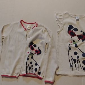 Gymboree Matching Sets - Gymboree 2 piece white Dalmatian sweater set